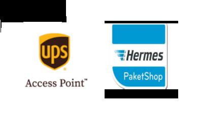 UPS Accespoint und Hermes Paketshop